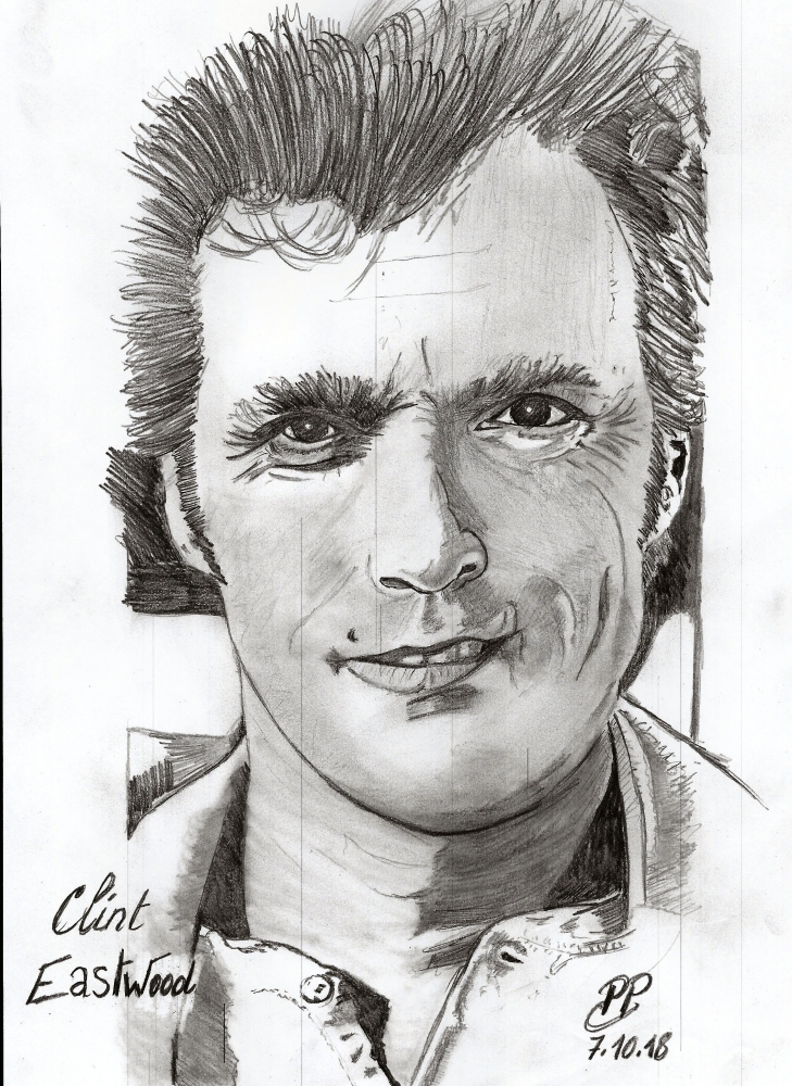 Clint Eastwood by Patoux